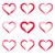 piros · vektor · ecsetvonások · szív · stilizált · fekete - stock fotó © blumer1979