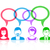 People icons with speech bubbles stock photo © blumer1979