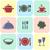 renkli · mutfak · siluet · simgeler · raflar - stok fotoğraf © blumer1979