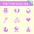 szett · terv · pasztell · aranyos · baba · ikon · szett - stock fotó © blumer1979