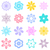Abstract vector colorful flower icons stock photo © blumer1979