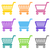 colorful vector shopping cart icons stock photo © blumer1979