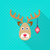 vector reindeer face christmas flat icon stock photo © blumer1979