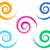 spiral vector brush strokes collection stock photo © blumer1979
