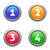 четыре · вектора · Кнопки · номера · опции · шаблон - Сток-фото © blumer1979