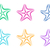 colorful vector stylized starfish icons stock photo © blumer1979