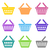 colorful vector shopping basket icons stock photo © blumer1979