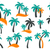 vector palm tree silhouette icons stock photo © blumer1979