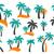 pálmafa · ikon · fehér · fa · tájkép · tenger - stock fotó © blumer1979