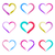 colorful vector brush strokes hearts stock photo © blumer1979