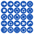 azul · seta · rotação · repetir · ícone - foto stock © blumer1979