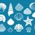 conchas · coleção · conchas · vetor · conjunto · starfish - foto stock © blumer1979