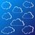 vektor · átláthatóság · gradiens · felhők · szett · kék - stock fotó © blumer1979