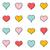любви · набор · иконки · ретро · иллюстрация · коллекция - Сток-фото © blumer1979
