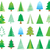 colorful vector abstract christmas tree icons stock photo © blumer1979