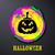 black halloween card with pumpkin stock photo © blumer1979