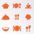 bestek · plaat · iconen · icon · illustraties · vork - stockfoto © blumer1979