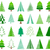 green vector abstract christmas tree icons stock photo © blumer1979