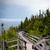 boardwalk at a seaside tadoussac quebec canada stock photo © bmonteny
