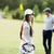 young couple playing golf stock photo © boggy