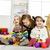 weinig · jongen · meisje · spelen · samen · woonkamer - stockfoto © boggy