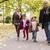 grootouders · kleinkinderen · najaar · park · gelukkig · lopen - stockfoto © boggy