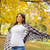 jonge · zwangere · vrouw · najaar · park · boom · gezicht - stockfoto © boggy