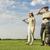 golf · araba · kadın · çift · spor - stok fotoğraf © boggy