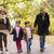grandparents with grandchildren in autumn park stock photo © boggy