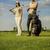 женщину · играет · гольф · области · красивая · женщина · небе - Сток-фото © boggy