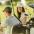 young couple at golf cart stock photo © boggy