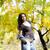 jeune · femme · automne · parc · arbre · forêt · modèle - photo stock © boggy