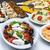 カラフル · 野菜 · ソーセージ · プレート · おいしい · 前菜 - ストックフォト © boggy