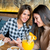 two young female friends sitting in cafe stock photo © boggy