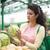 nő · vásárol · friss · zöldségek · mosolygó · nő · vásárlás · áruház - stock fotó © boggy