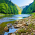 stones and rocks in the morning in the dunajec river gorge stock photo © bogumil