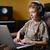 человека · компьютерный · зал · прослушивании · mp3-плеер · компьютер · служба - Сток-фото © bogumil
