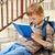 ребенка · чтение · книга · мало · Kid · ярко - Сток-фото © bogumil
