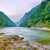 The gorge of mountain river in the morning stock photo © bogumil