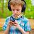 szczęśliwy · dziecko · słuchanie · muzyki · stereo · słuchawki - zdjęcia stock © bogumil