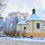 congelato · castello · inverno · panorama · colore · illustrazione - foto d'archivio © bogumil
