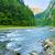 yaz · manzara · gölet · kayalar · gökyüzü - stok fotoğraf © bogumil