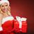 beautiful sexy santa claus girl with gift box stock photo © bogumil