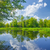 zonnige · voorjaar · landschap · rivier · hemel · water - stockfoto © bogumil