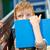かわいい · 男子生徒 · 読む · 図書 · 孤立した · 白 - ストックフォト © bogumil