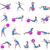 pilates · oefening · cute · slank · brunette · vrouw - stockfoto © bokica