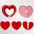 ayarlamak · kırık · kalpler · sevmek · örnek · yalıtılmış - stok fotoğraf © boogieman
