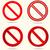 нет · знак · набор · красный · круга · линия - Сток-фото © BoogieMan