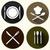 кухне · признаков · набор · пластина · блюдо · вилка - Сток-фото © BoogieMan