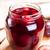 ameixa · jarra · vidro · áspero · mesa · de · madeira · fruto - foto stock © borysshevchuk